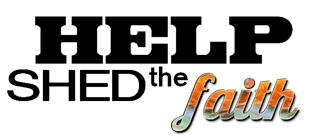 help shed the faith logo
